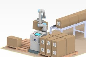 Robotics to perform picking and placing materials